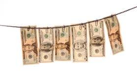 被洗涤的货币 免版税库存图片