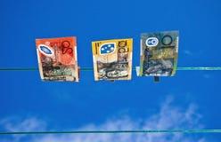 被洗涤的1货币 图库摄影