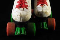 被消耗的溜冰鞋 图库摄影