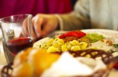 被消耗的膳食部分地 免版税图库摄影
