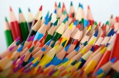 被混乱的上色铅笔 免版税库存图片