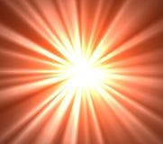 被混合的橙色和白黄色光芒 库存照片