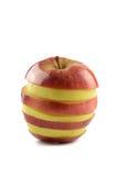 被混合的苹果计算机切片 免版税库存图片