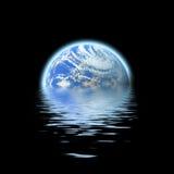 被淹没的地球 向量例证