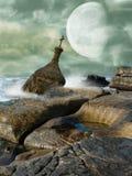 被淹没的大厦 免版税库存照片
