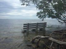 被淹没的长凳 图库摄影