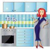 被清洗的厨房 免版税库存照片