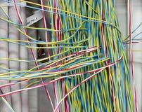 被清除的铜电力缆绳 库存图片