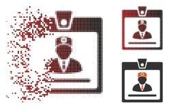 被溶化的映象点半音医生Badge Icon 向量例证