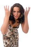 被激怒的妇女 免版税库存图片