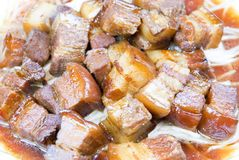 被炖的中国食物猪肉 免版税库存照片