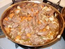 被炖的牛肉肉 库存图片