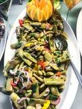 被炖的绿色菜豆 免版税库存图片