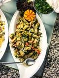 被炖的绿色菜豆 免版税库存照片