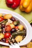 被炖的蔬菜的混合 免版税图库摄影