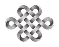 被点刻的不尽的结 佛教符号 也corel凹道例证向量 库存例证