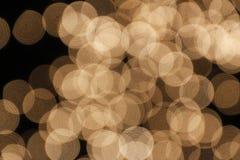 被点燃的几盏灯弄脏了黄色 免版税图库摄影