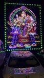 被点燃的印度god& x27; 希瓦Parvathi和孩子阁下s  免版税图库摄影
