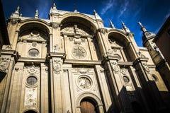 被点燃的大教堂 免版税库存照片