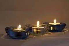 被点燃的大气蜡烛 图库摄影