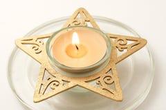 被点燃的蜡烛 免版税图库摄影