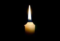 被点燃的蜡烛 库存照片