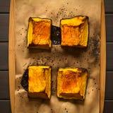 被烘烤的南瓜用在上面的糖 库存照片