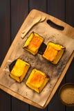 被烘烤的变甜的南瓜 免版税库存照片