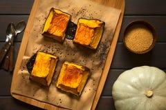 被烘烤的变甜的南瓜 库存图片