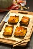 被烘烤的变甜的南瓜 库存照片