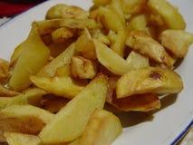 被烘烤的土豆特写镜头,快餐 库存图片