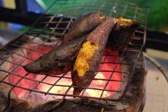 被烘烤的土豆甜点 库存照片