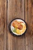 被烘烤的土豆用乳酪 免版税库存照片