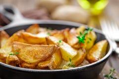被烘烤的土豆 免版税库存照片