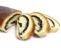 被烘烤的大面包肉 免版税库存照片