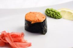 被烘烤的寿司 图库摄影