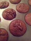 被烘烤的巧克力曲奇饼 库存照片