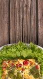被烘烤的布丁蔬菜 图库摄影