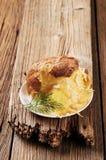 被烘烤的干酪土豆 免版税库存图片