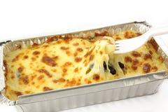 被烘烤的干酪菠菜 免版税库存图片