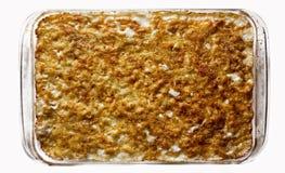 被烘烤的干酪通心面 库存照片