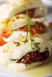 被烘烤的干酪halloumi 免版税库存照片