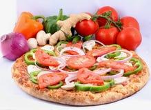 被烘烤的新鲜的烤箱piza 库存图片