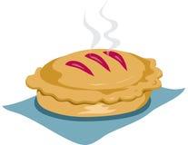 被烘烤的新鲜的饼 皇族释放例证