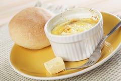 被烘烤的早餐鸡蛋称呼了瑞士 库存照片