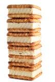 被烘烤的曲奇饼金子 库存照片