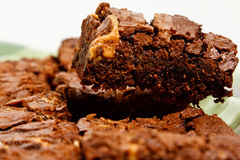 被烘烤的果仁巧克力新近地 免版税库存图片