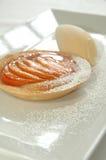 被烘烤的桃子馅饼 图库摄影