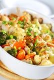 被烘烤的混杂的蔬菜 免版税库存图片
