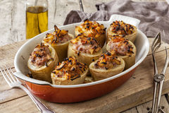 被烘烤的烤箱土豆 免版税库存照片